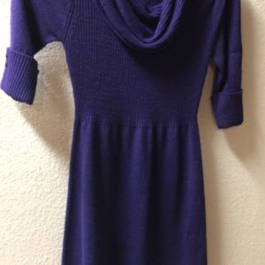 Purple Knit Dress